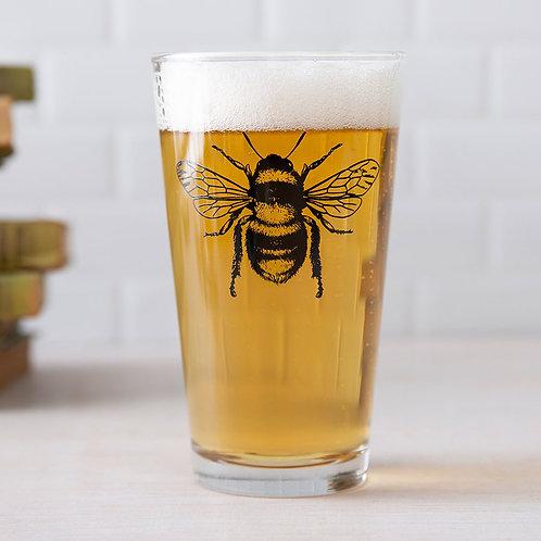 Bee Pint Glass
