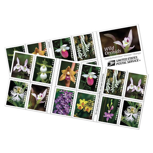 USPS Forever Stamps - Wild Orchids