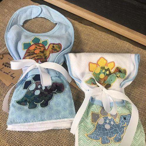 Handmade Baby Set: Dino