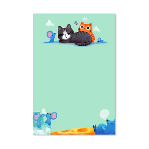 Cat & Mouse Notepad