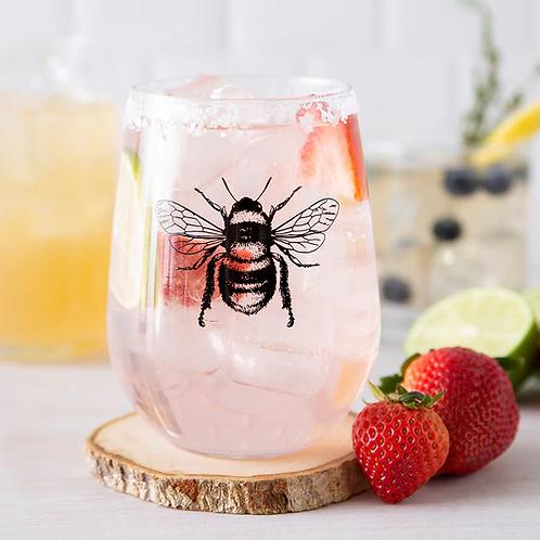 Bee Stemless Wineglass