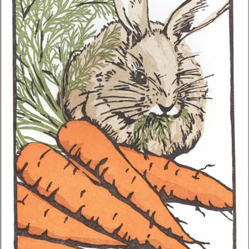 Letterpress Card: A Carrot is a Carrot