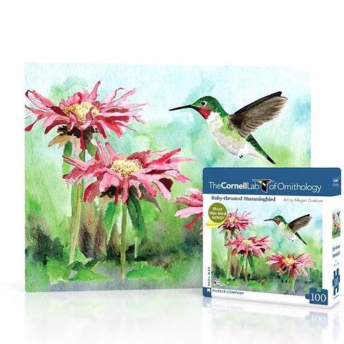 Mini Puzzle: Ruby-throated Hummingbird