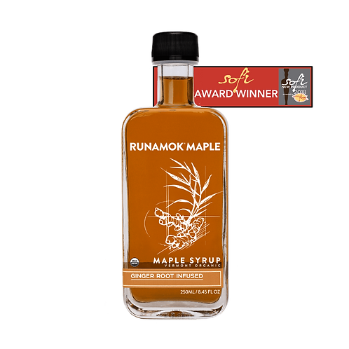 Ginger Root Infused Maple Syrup