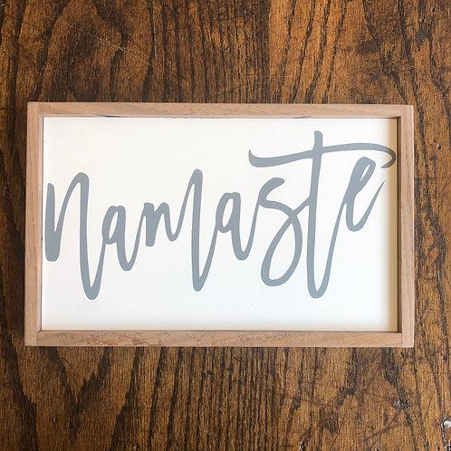 """11"""" x 7"""" Sign: Namaste"""