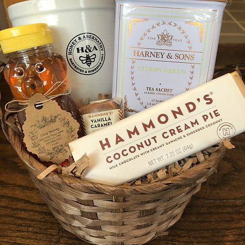 Chocolate, Tea & Honey Gift Basket