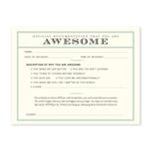 You Are Awesome Receipt Notecard Set