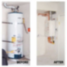 Tankless waterheater install