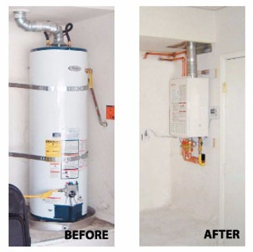 Tankless waterheater install