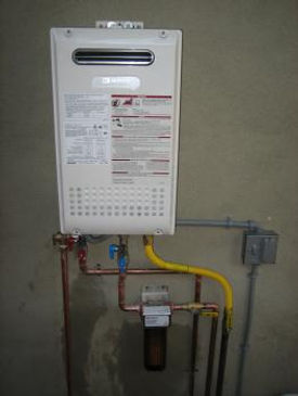 Install a tankless waterheater indoor or outdoor