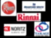 Brands of Thankless waterheater brands we install Rheem, Noritz, Takagi