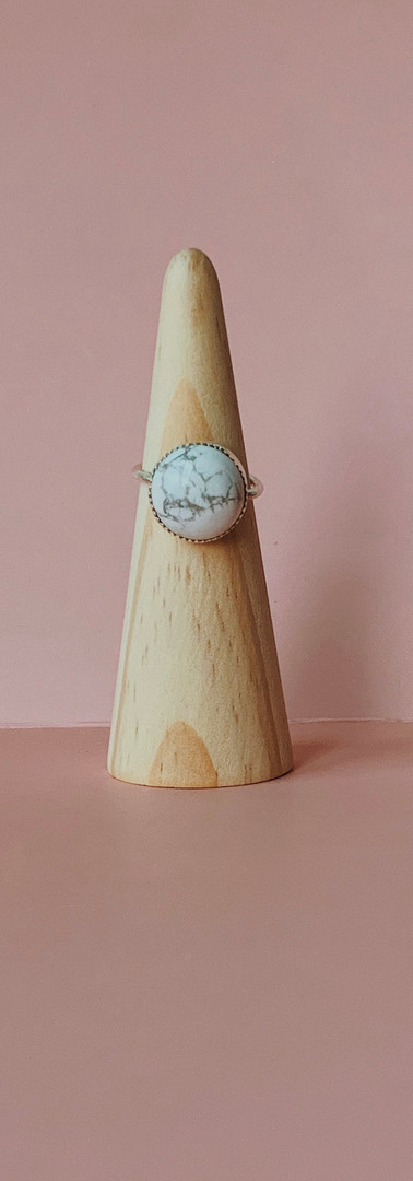custom howlite ring