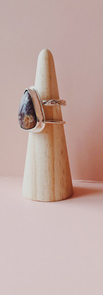 custom charoite ring