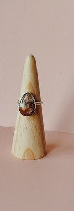 custom mookaite jasperl ring