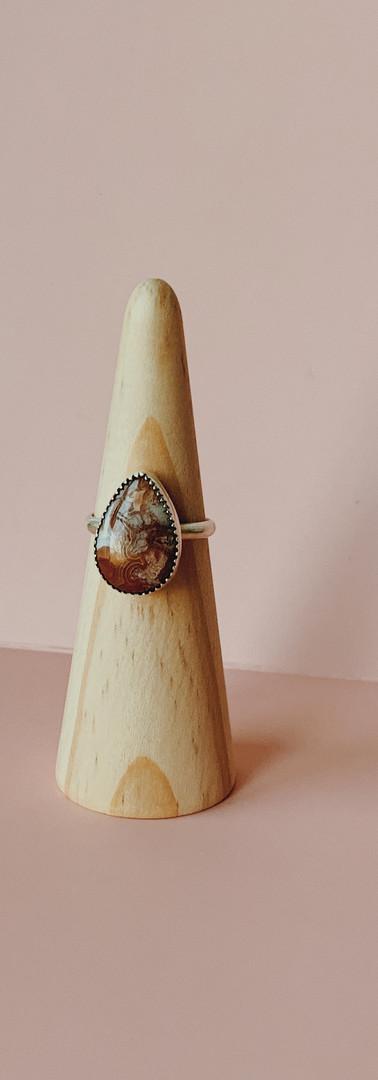 custom mookaite jasperl ring