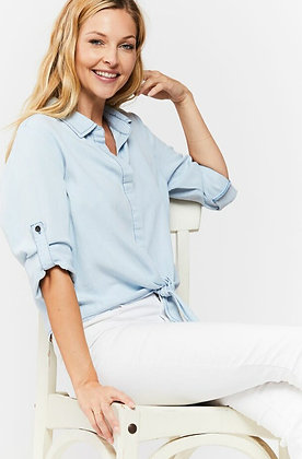 Solange Denim Button Down Shirt