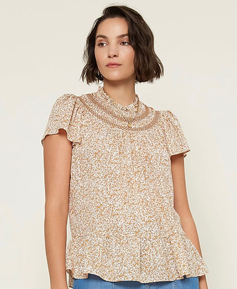 Daisy Floral Smock Blouse