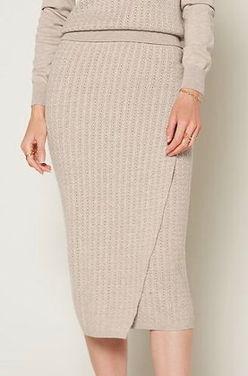 Knitted Faux Wrap Skirt
