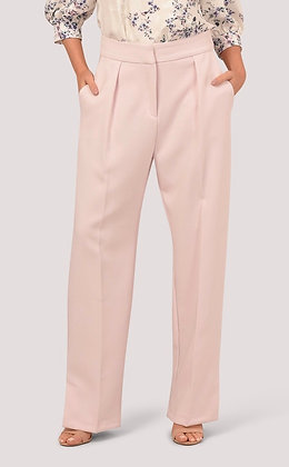 Pink Side Vent Straight Trousers