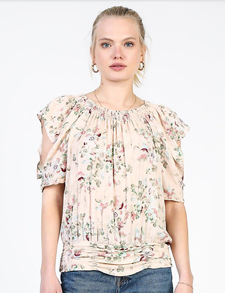 Crinkled Floral Top