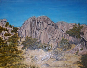 Rock  formation in Texas Canyon, Arizona