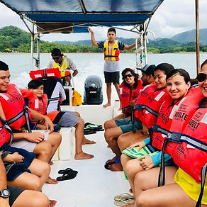 Ocean boat cruise in Costa Rica