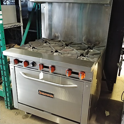 [SOLD] 6 Burner Gas Range