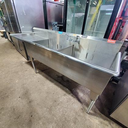 2 Pot Sink w/ Left Drain Board