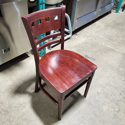 7x Wood Dining Chairs