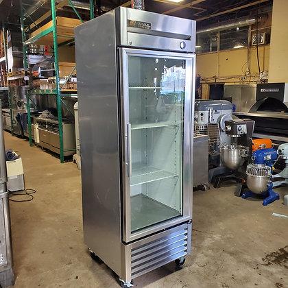 True Single Door Glass Refrigerator