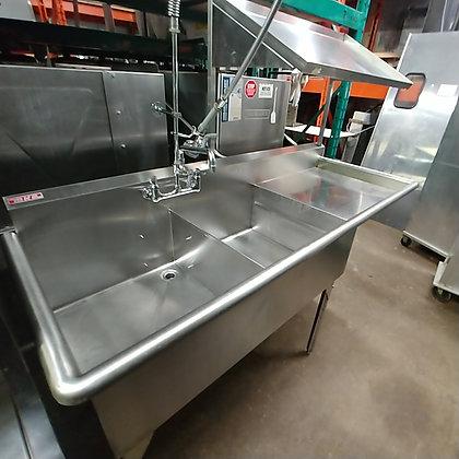 2 Pot Sink + Drainboard + More