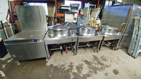 3x 40 Gallon Steam Kettle