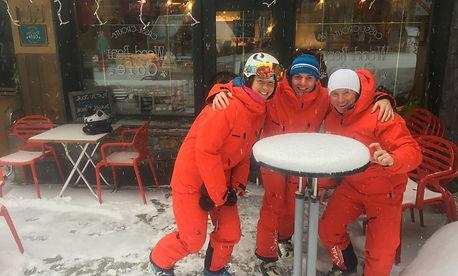 Aim snowsports Les Arcs ski instructors