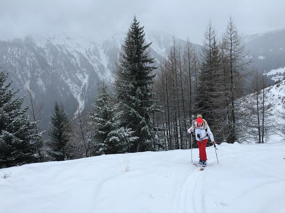 Ski touring in Les Arcs