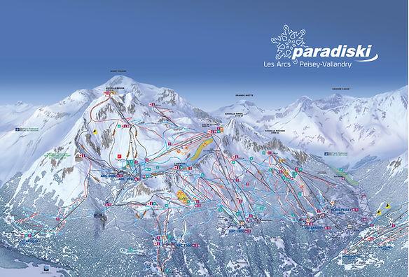 Piste map for Les Arcs