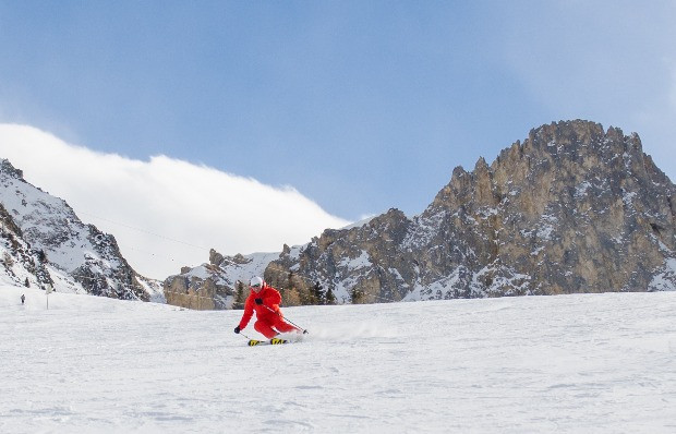 Skiing the pistes of Peisey-Vallandry