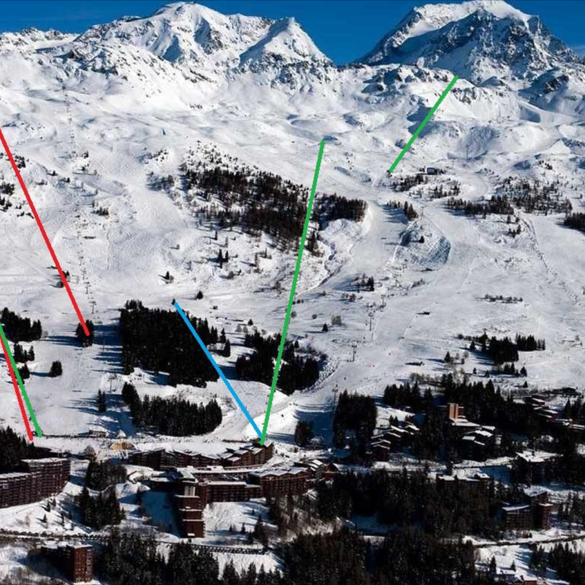 Plan of the Les Arcs new lifts 2015