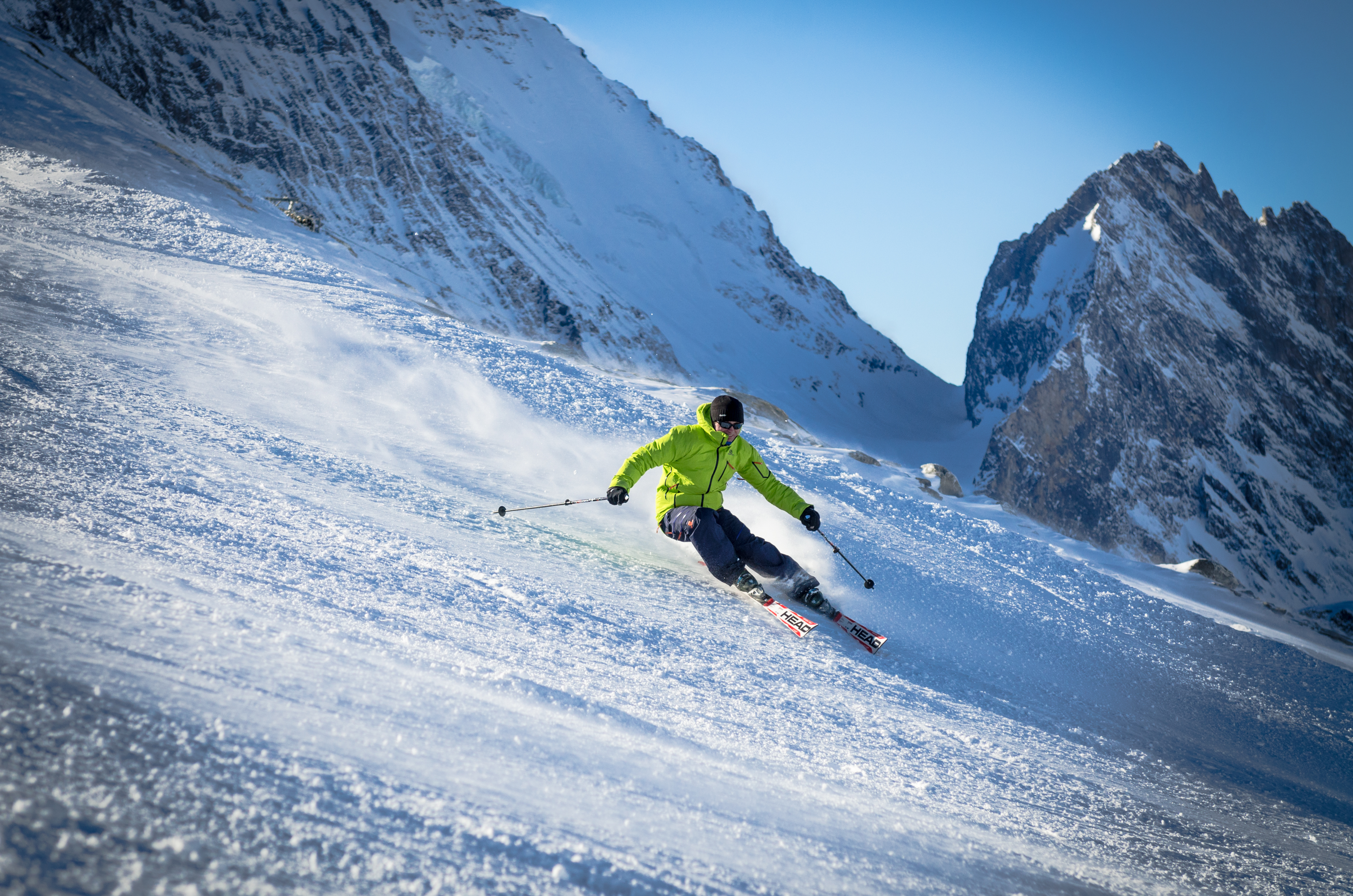 Private group ski lessons