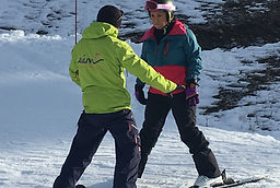 Les Arcs beginner lessons with Aim ski school