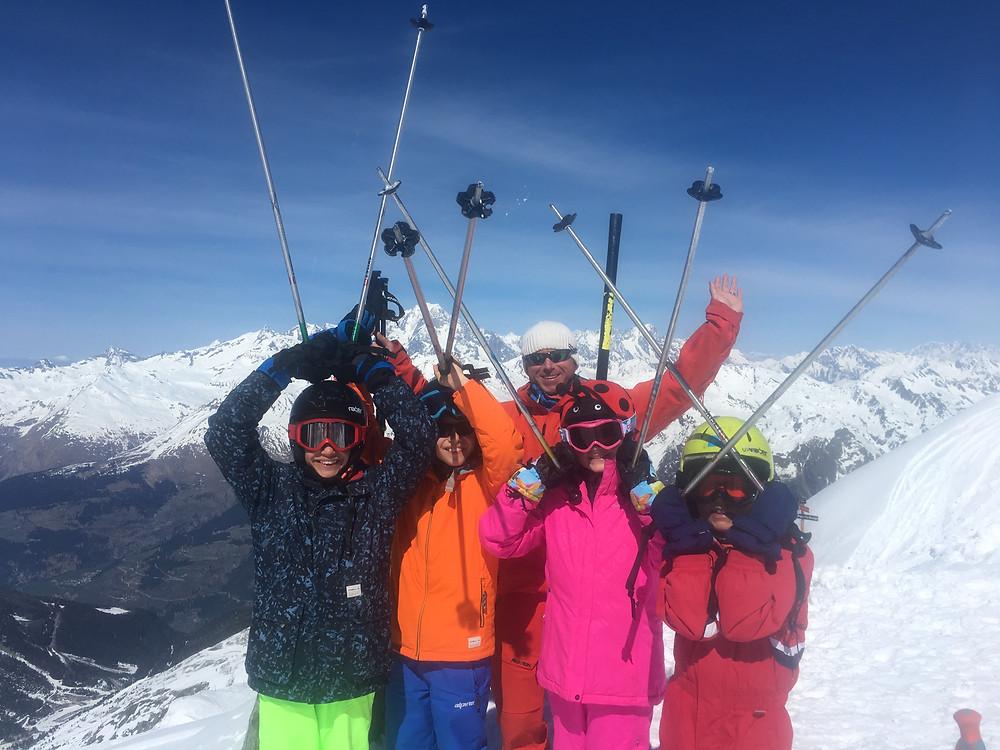 An AIM Snowsports childrens lesson