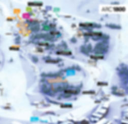 Arc 1800 ski school Meeting point