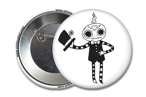 Gentleman Skeleton • Matte Button