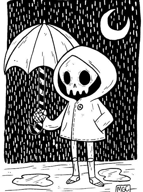 Rainy Day Skelly • Print