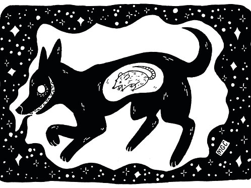Black Dog • Print
