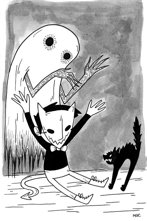 Scaredy Cat • Print