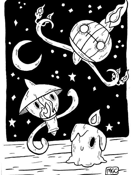 Lantern Poké Ghosts • Print