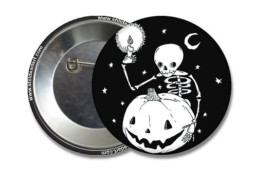 Skelly Pumpkin • Matte Button