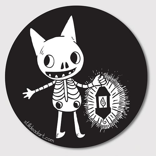 Lantern Cat • Sticker