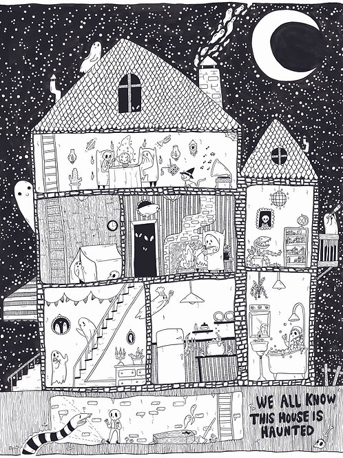 This House is Definitely Haunted • Print