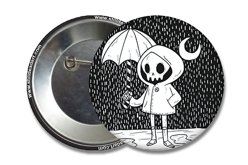 Rainy Day Skelly • Matte Button